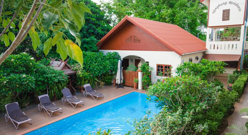 Appartement-location phuket-maison-piscine-jardin