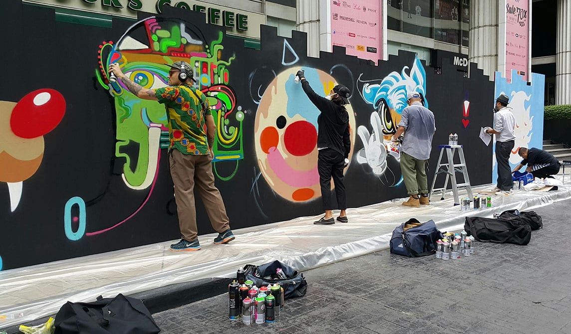 Street Art Bangkok - visiter la thailande avec des ados