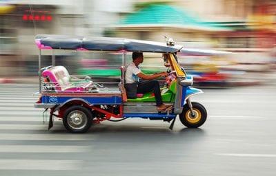 transports en Thailande - tuk tuk - bangkok
