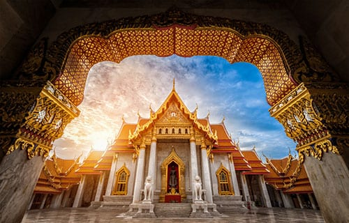 palais royal - temple bangkok - la thailande avec des enfants