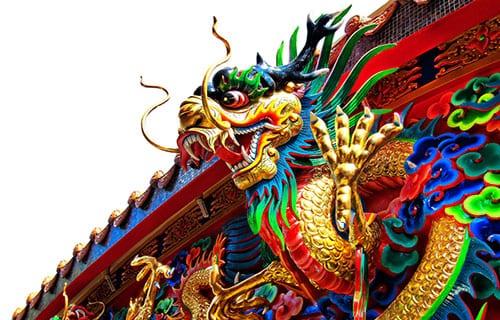 Bangkok en famille - visite temple avec des enfants - dragon - chinatown Bangkok
