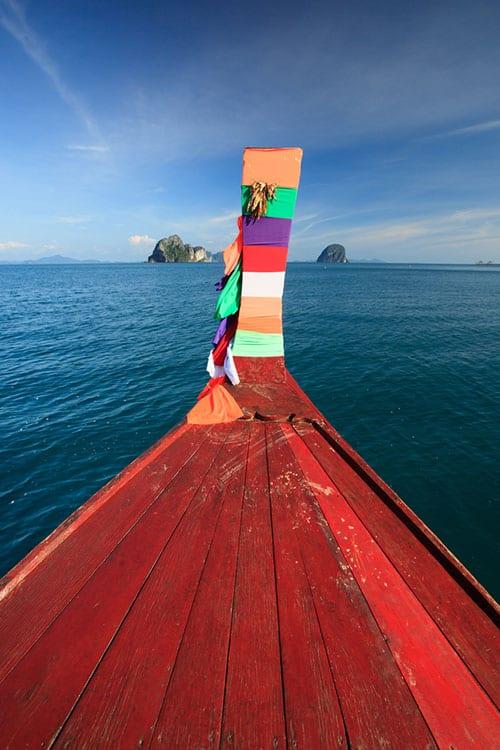 bateau thailande - bois - ile du sud thailande avec des ados