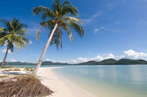 plage famille thailande - koh yao - sable blanc et cocotiers