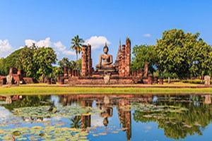 sukhothai-temple- thailande avec des enfants