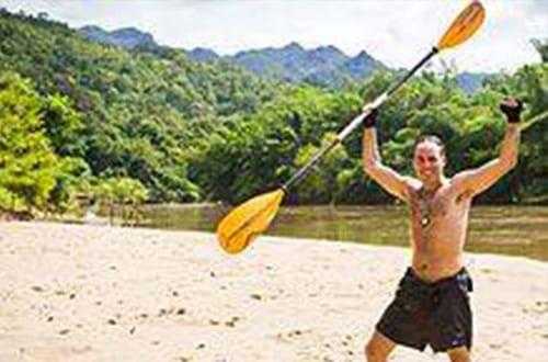 Kanchanaburi avec des enfants - activité - canoé - kayak - aventure - rivière thailande