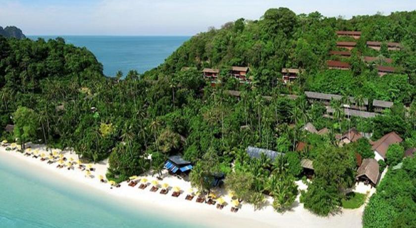 hôtel piscine koh phi phi - plage paradisiaque - thailande