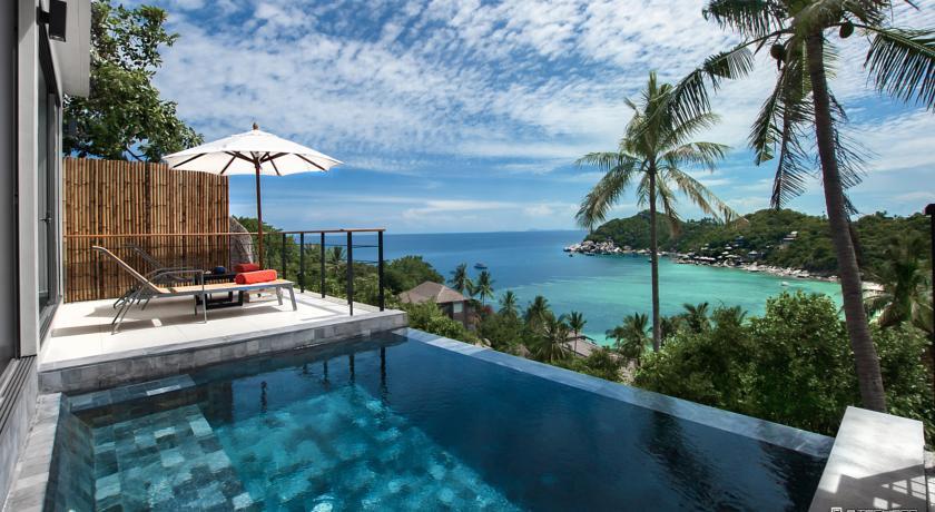 koh tao en famille - villa - piscine - thaïlande