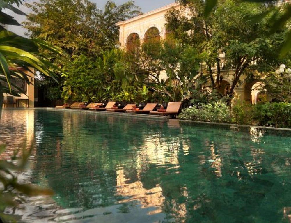 Bangkok en famille hotel de luxe royal orchid sheraton piscine - Hotel bangkok piscina ...