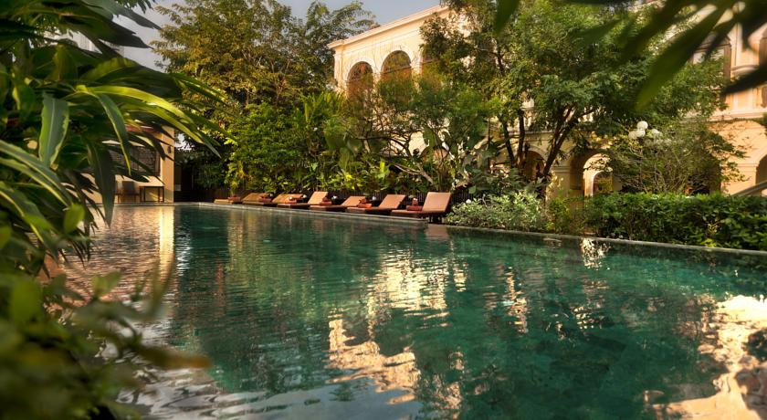 Bangkok palace hotel piscine - bangkok avec des ados