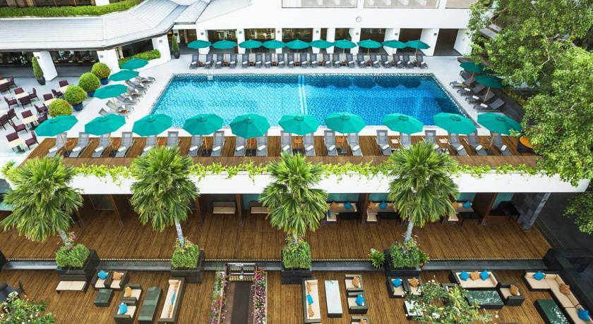 Bangkok palace hotel piscine - luxe en thailande - vacances en famille