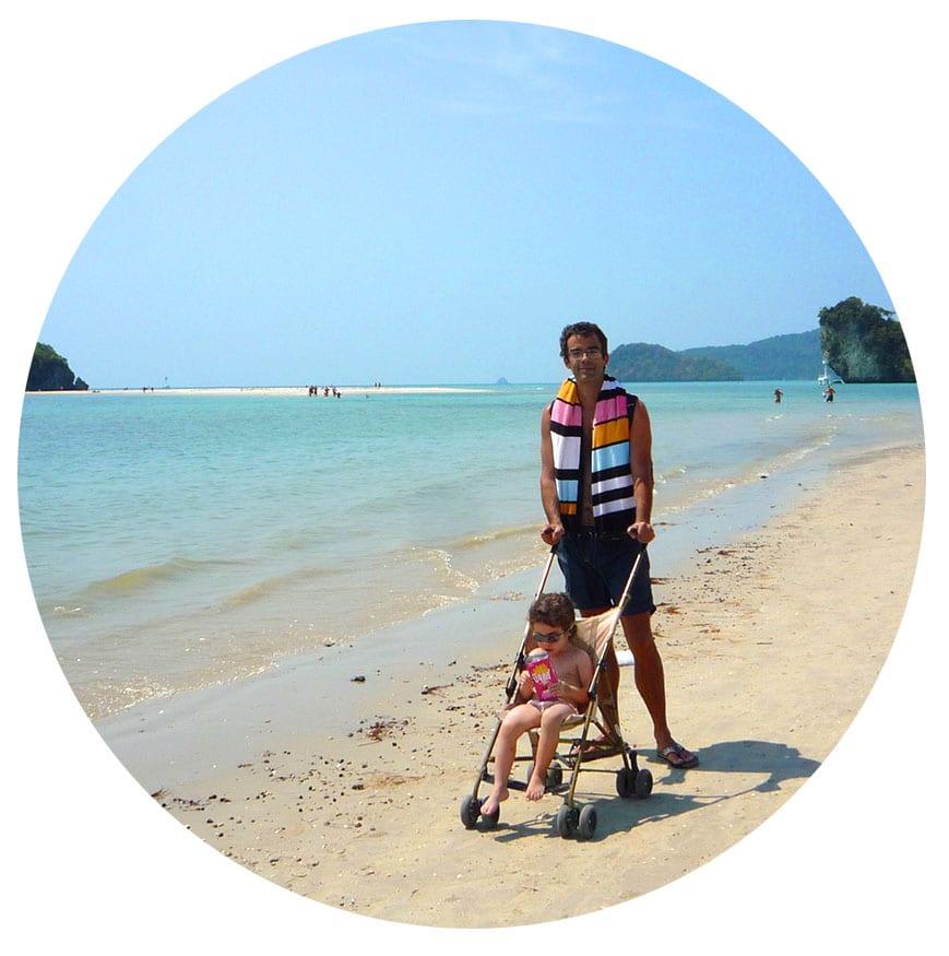 thailande poussette bébé - voyage en famille en thailande