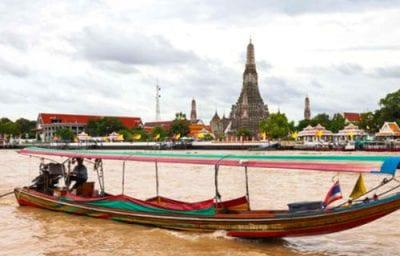 Visite des temples de Bangkok- bangkok avec des ados - excursion en bateau