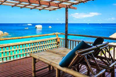 Budget hotel thailande - bungalow pas cher - guesthouse - vue mer - plage tropicale