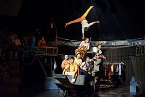 spectacle nocturne-Voyage en famille au Cambodge