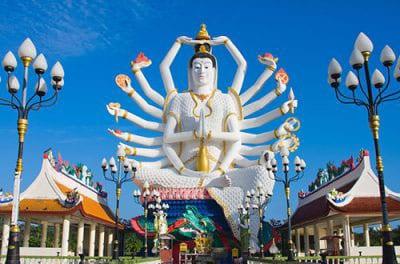 thailande - que faire à koh samui avec des enfants - Big Bouddha Thaïlande - statue 18 bras