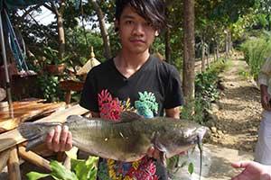 que faire à Pai avec des enfants - partir en thailande avec un ado - peche - activité