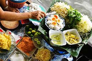 cours de cuisine thai - que faire à Pai avec des enfants - partir en thailande avec un bébé