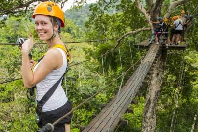 pattaya en famille-acrobranche dans la jungle
