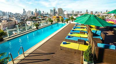 Bangkok palace hotel swiming pool travel thailand kids family