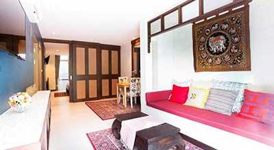 villa phuket-thailande- suite familiale a Phuket -salon-decoration-charme