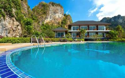 piscine Railay - bon plan - krabi en famille