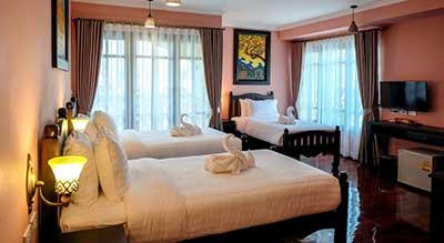 Chambre familiale a Bangkok-hotel-3 lits-famille