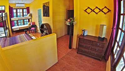 Grande chambre-famille-Koh Phangan-hotel francais-thailande