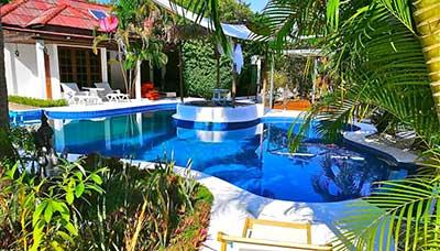 Hotel piscine-koh phangan-francais-jardin-charme