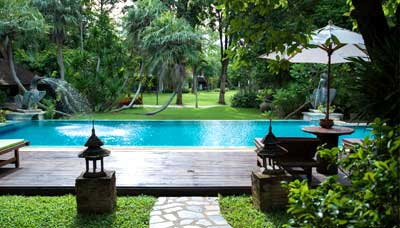 hotel francais chiang mai-campagne-nature-piscine-jardin