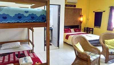 guesthouse francophone-koh tao-chambre famille-salon-4 personnes