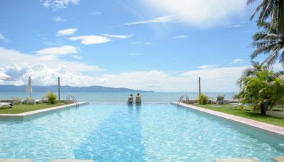 hotel francais thailande-koh phangan-piscine-plage-mer-horizon-palmier