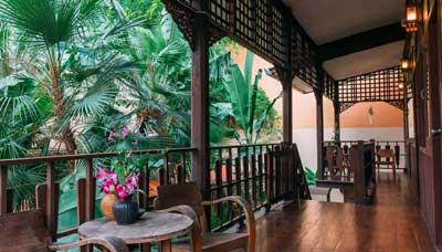hotel francais thailande-chiang mai-pas cher-maison en bois-charme