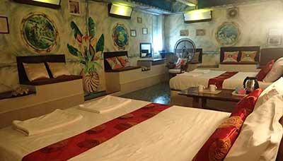 guesthouse francophone-koh tao-chambre familliale-salon