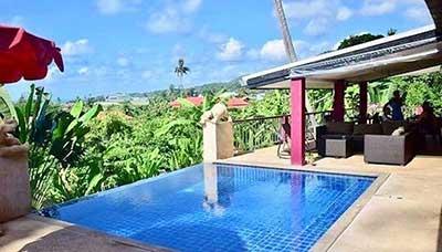 Hotel francais thailande-koh samui-piscine-vue-paysage