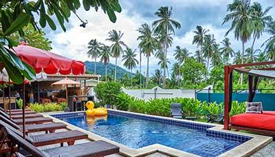 hotel piscine-koh samui-francais-charme-cocotier