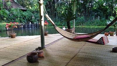 hotel francais chiang mai-campagne-nature-hamac-terrasse