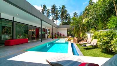 Villa-piscine-Koh-Samui-thailande-français-jardin-tropical-transat-moderne
